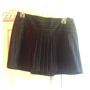 Skirts - BLACK AND BLUE PIN STRIPED PLEADED SKIRT